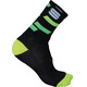 Sportful Flair 15 Socks black/yellow fluo/green fluo